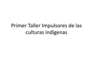 Primer Taller  Impulsores  de  las culturas indígenas
