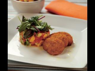 BBQ nuggets med tomat- och mangosallad  -  4 portioner 1 pkt Hälsans Kök BBQ nuggets