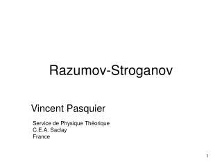 Razumov-Stroganov