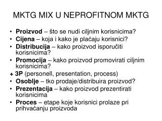 MKTG MIX U NEPROFITNOM MKTG