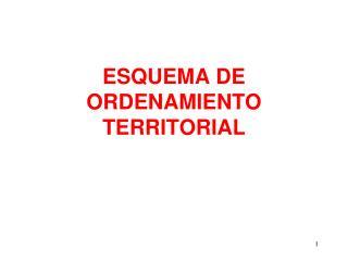 ESQUEMA DE ORDENAMIENTO TERRITORIAL