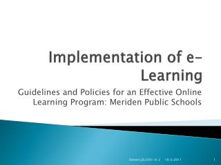 Implementation of e-Learning