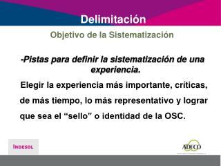 Delimitación