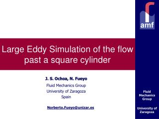 Large Eddy Simulation of the flow past a square cylinder