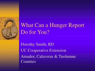 What Can a Hunger Report Do for You?