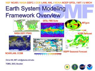 Earth System Modeling Framework Overview