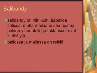 Salibandy