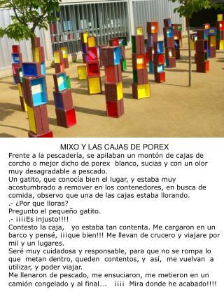 MIXO Y LAS CAJAS DE POREX