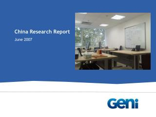 China Research Report