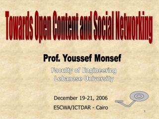 December 19-21, 2006 ESCWA/ICTDAR - Cairo