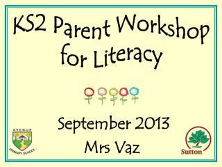 September 2013 Mrs Vaz