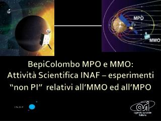 Esperimento  MEA (Mercury  Electonic  Analyzer)   sull' MMO  E. Amata