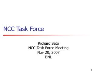 NCC Task Force