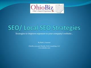 SEO/ Local SEO Strategies