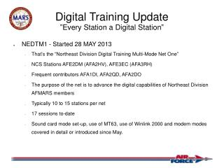 "Digital Training Update ""Every Station a Digital Station"""