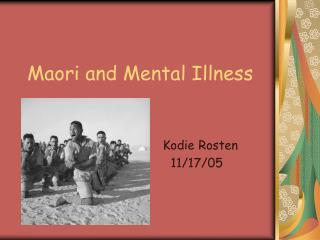 Maori and Mental Illness