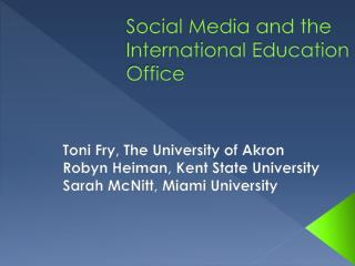 Social Media and the International Education Office