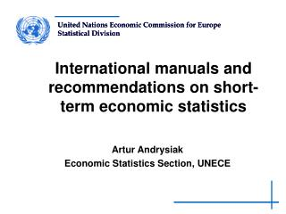 International manuals and recommendations on short-term economic statistics