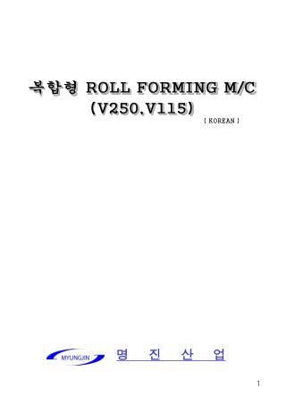 복합형  ROLL FORMING M/C (V250,V115)