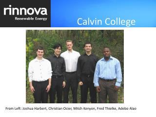From Left: Joshua Harbert, Christian Ocier, Mitch Kenyon, Fred Thielke, Adebo Alao