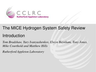 The MICE Hydrogen System Safety Review Introduction