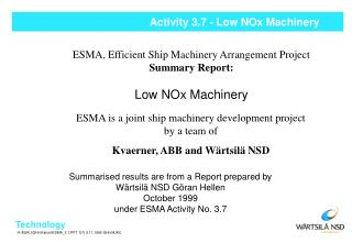 Activity 3.7 - Low NOx Machinery