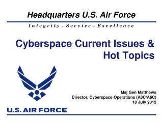 Cyberspace Current Issues & Hot Topics