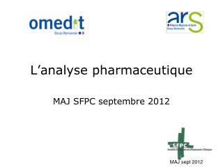L�analyse pharmaceutique