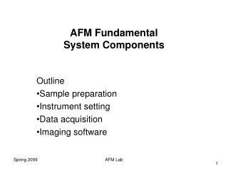 AFM Fundamental  System Components