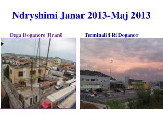 Ndryshimi Janar  2013-Maj 2013
