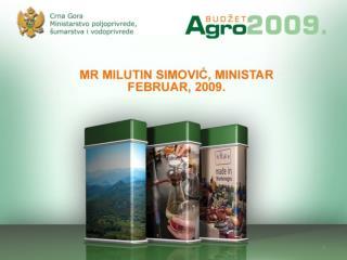 P olazišta za  agrarnu politiku i  budžetsku podršku