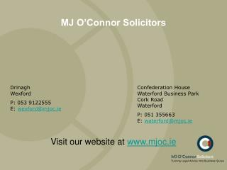MJ O'Connor Solicitors