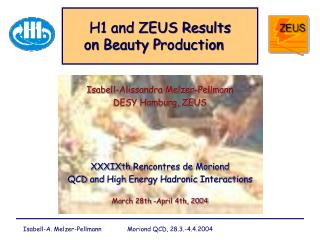 H1 and ZEUS  R esults  on  B eauty  P roduction ��