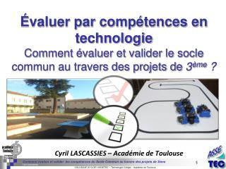 �valuer par comp�tences en technologie