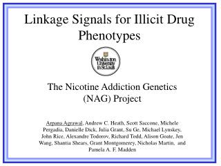 Linkage Signals for Illicit Drug Phenotypes