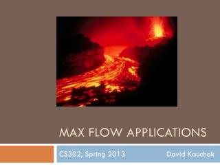 Max Flow Applications