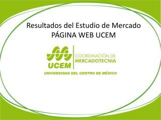 Resultados del Estudio de Mercado  PÁGINA WEB UCEM