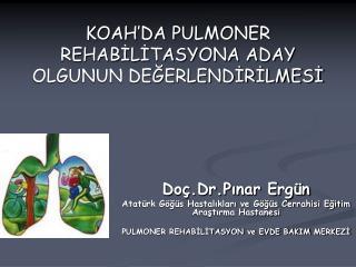 KOAH'DA PULMONER REHABİLİTASYONA ADAY OLGUNUN DEĞERLENDİRİLMESİ