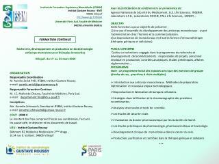 Institut de Formation Supérieure Biomédicale (IFSBM) Institut Gustave Roussy - EMT