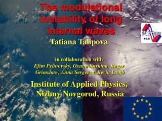 Tatiana  Talipova in collaboration with