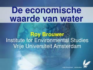 De economische waarde van water