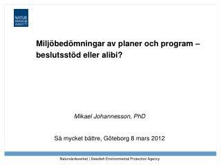 Miljöbedömningar av planer och program – beslutsstöd eller alibi?