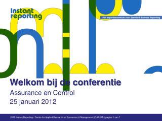 Welkom bij de conferentie