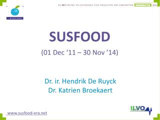 SUSFOOD (01 Dec '11 – 30 Nov '14)