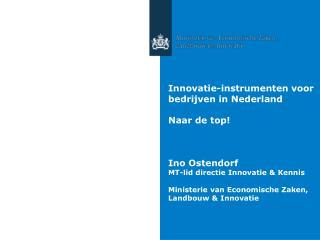 Innovatie-instrumenten voor bedrijven