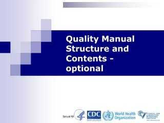 Quality Manual Structure and Contents