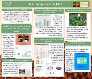 Mai's Spring Quarter in CSE 3