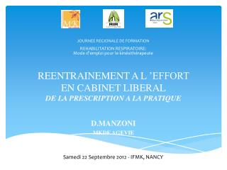 REENTRAINEMENT A L 'EFFORT  EN CABINET LIBERAL DE LA PRESCRIPTION A LA PRATIQUE