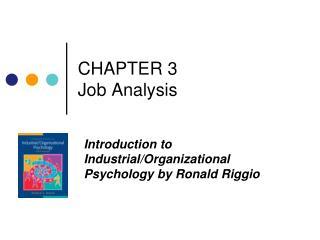 CHAPTER 3  Job Analysis