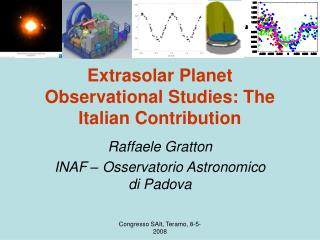 Extrasolar Planet Observational Studies: The Italian Contribution